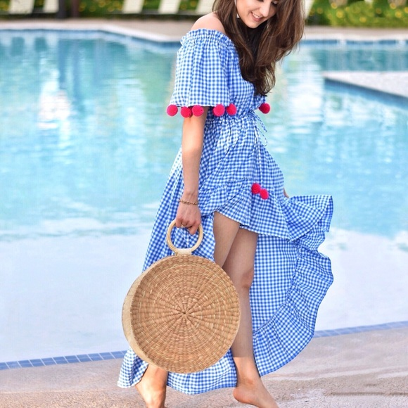 cced7f0a3ff Sundress Alena Gingham High Low Dress
